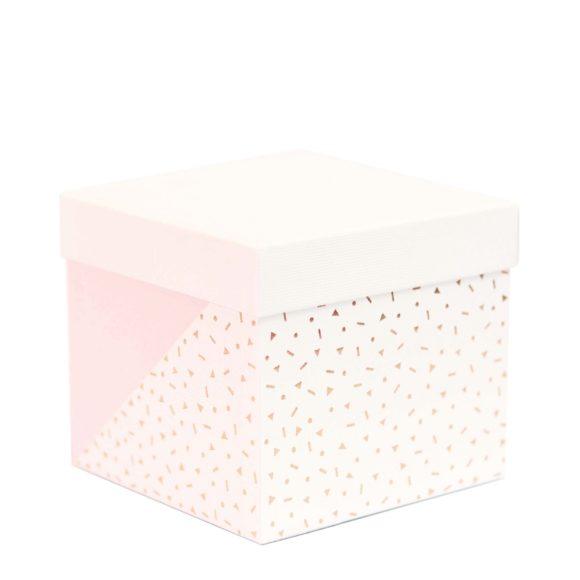 Krabička na dárky bílo-růžová