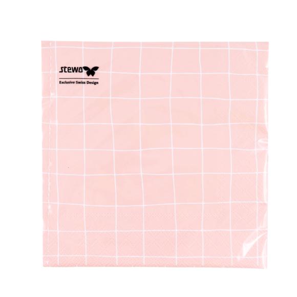papírové ubrousky růžové FSC