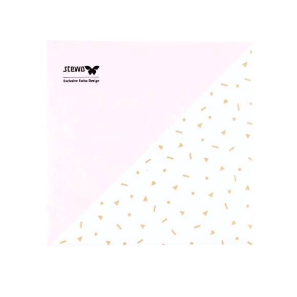 papírové ubrousky růžovo bílé