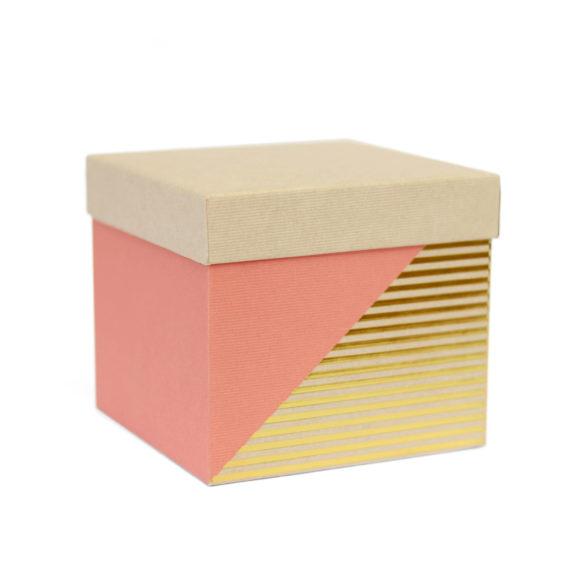 Krabička na dárky růžovo-zlatá