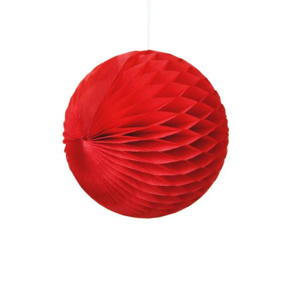 papírová skládaná koule červená
