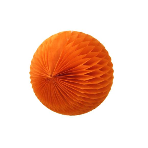 papírová skládaná koule oranžová
