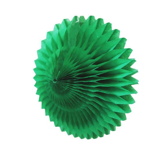 papírová skládaná květina zelená