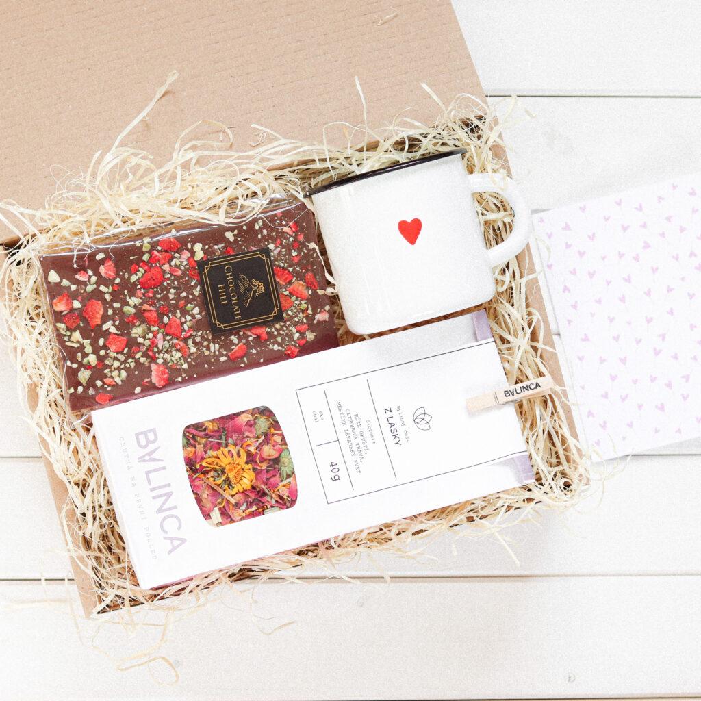 dárková krabička z lásky