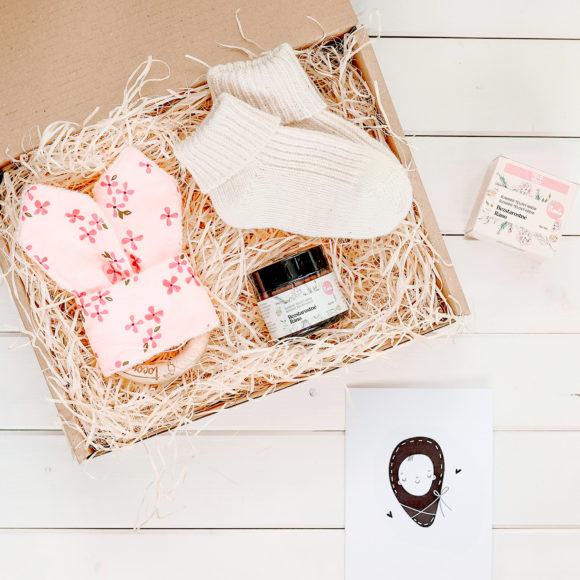 dárková krabička k narození růžová