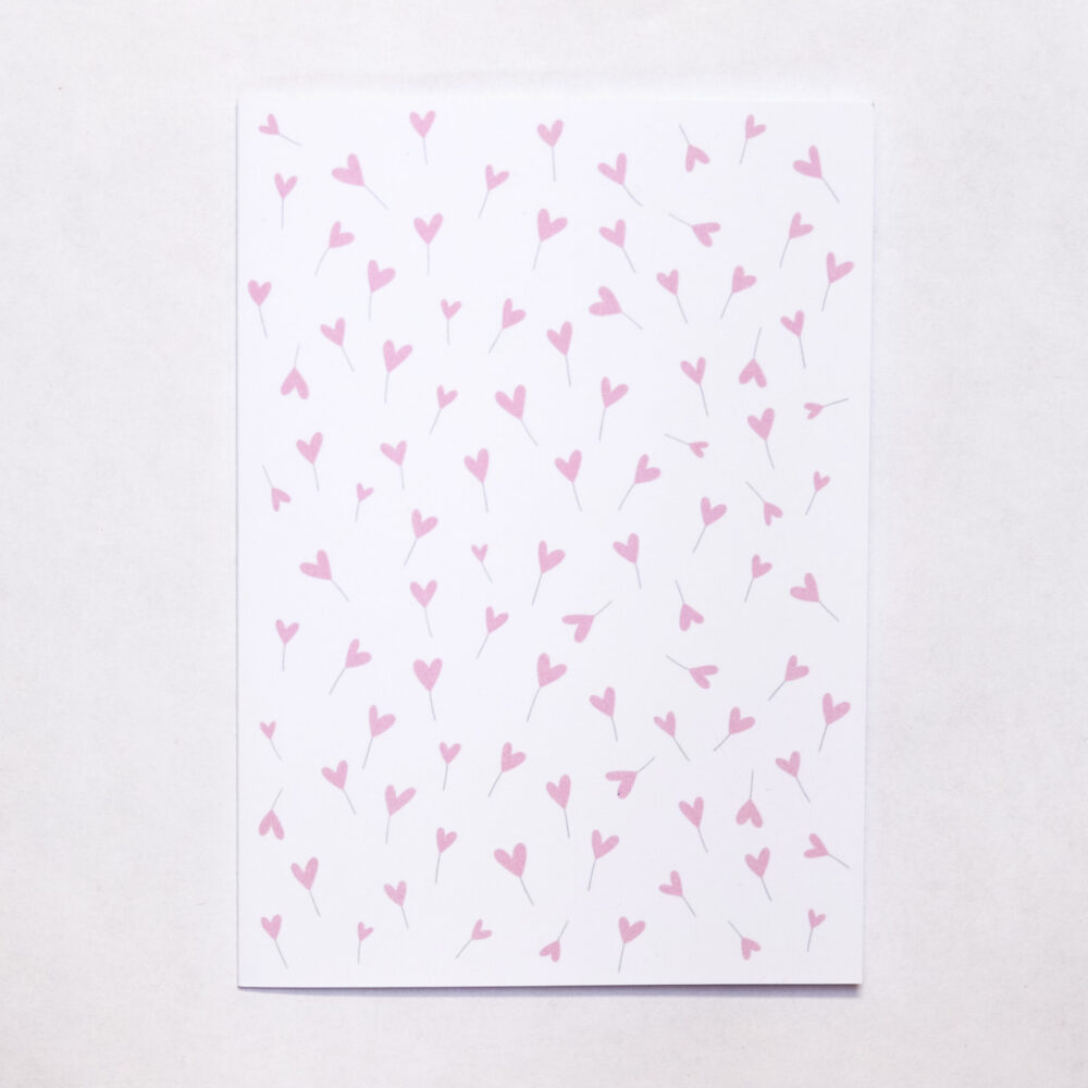 Přáníčko růžová srdíčka
