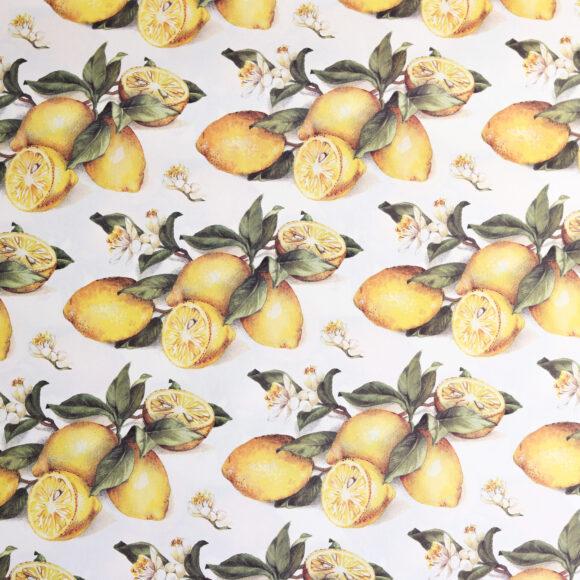 dárkový papír s citrony