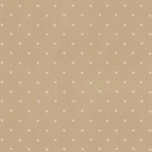 dárkový papír role bílá srdíčka fsc